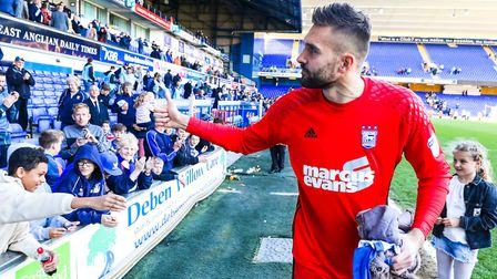 Bialkowski has always had a good relationship with the Ipswich fans. Picture: Steve Waller www
