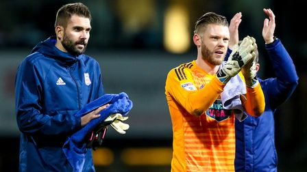 Bialkowski was in and out of the Ipswich side, changing places with Dean Gerken. Picture: STEVE W