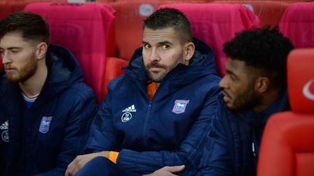 Bartosz Bialkowski on the bench at Stoke City Picture Pagepix