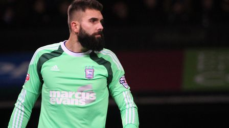 Bartosz Bialkowski pictured during his first season with Ipswich. Photograph Simon Parker