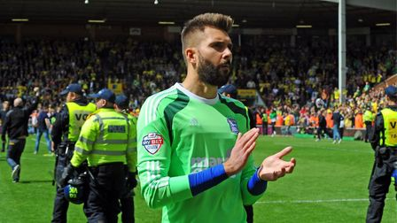 Bartosz Bialkowski, pictured following Ipswich's play-off loss to Norwich in 2015. PIcture: ARCHANT