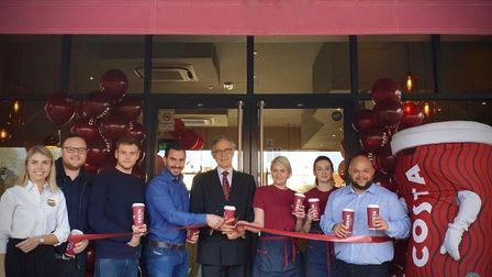 The official opening of the newly-refurbished Costa Coffee shop in Saxmundham Picture: REBECCA ELLI
