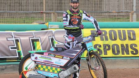 Danny Ayres in Mildenhall colours Picture: CAROL DOWNIE