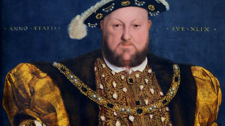 A Hans Holbein portrait of Henry VIII, the monarch who married and then had executed two of Thomas H