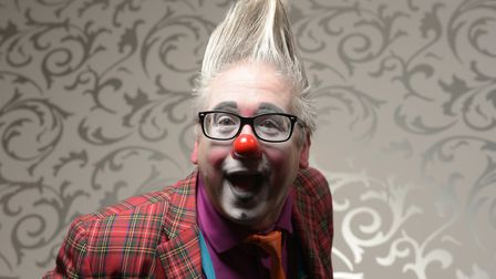 Andrew Davis (Andy the Clown) clowning around at the world clown convention in Lowestoft Picture: