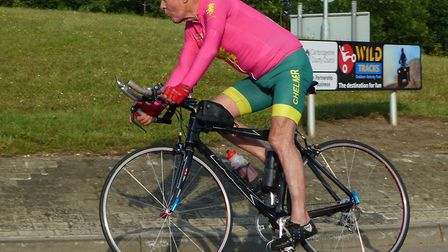 Peter Horsnell, 90, in action last summer. Picture: FERGUS MUIR