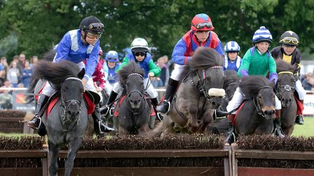 A pony race at the Suffolk Show Picture: PAUL CHAPMAN