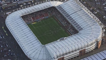 A bird's eye view of the Stadium of Light. Picture: PA