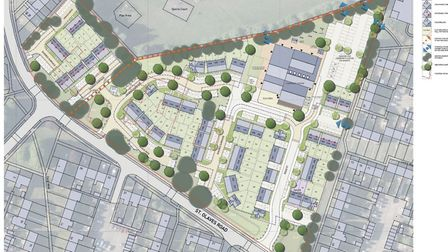 This shows the layout of the development area on the former Howard Primary School site Picture: PEGA