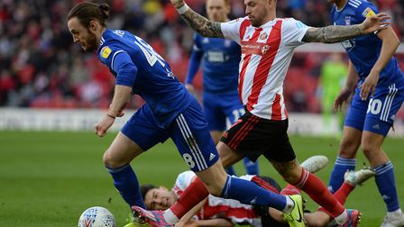Will Keane breaks clear at Sunderland Picture Pagepix
