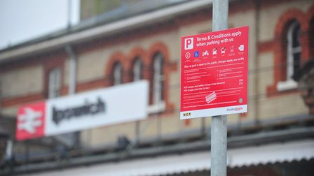 Parking at Ipswich railway station will now set passengers back �2,122 a year Picture: SARAH LUCY B