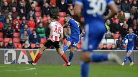 James Norwood goes close during the first half at Sunderland Picture Pagepix
