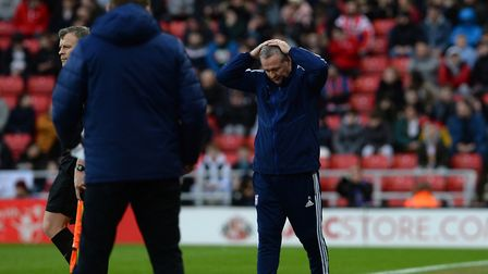 Paul Lambert holds his head at Sunderland Picture Pagepix