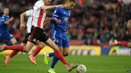 Kayden Jackson loses the ball at the crucial moment at Sunderland Picture Pagepix