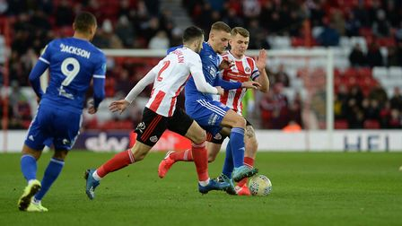 Luke Woolfenden on the ball at Sunderland Picture Pagepix