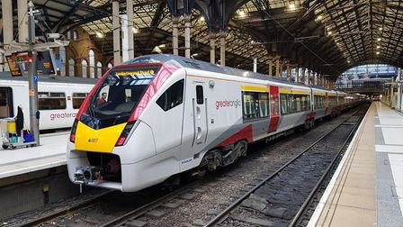 The telegraph pole fell near Halesworth Picture: GREATER ANGLIA