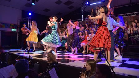 Students from Farlingaye High School in Woodbridge are performing Grease Picture: SONYA DUNCAN