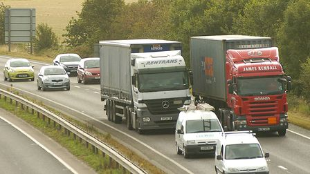 The A14 at Woolpit has seen speeding drivers - and flying debris. Picture: ARCHANT LIBRARY