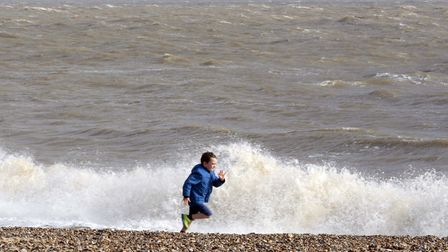 Large waves are expected on the coast (file photo) Picture: NIGEL BROWN