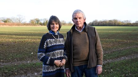 Farm owners Belinda and David Grant at Fordley Hall Farm Picture: CHARLOTTE BOND