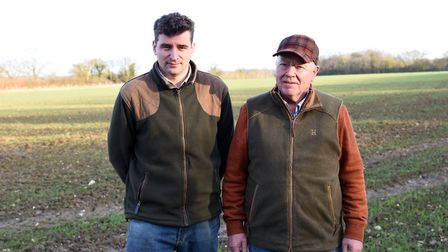 Contractors Joe and Philip Bloomfield at Fordley Hall Farm Picture: CHARLOTTE BOND