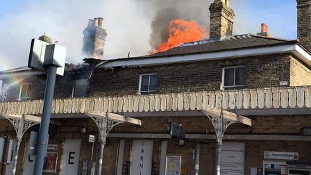 Saxmundham Railway Station was damaged by fire two years ago. Picture: SUZIE CAMPBELL