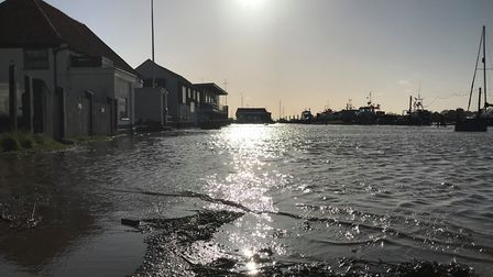 Dramatic photos show storm surges in Southwold. Picture: NEIL DIDSBURY