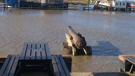 The Harbour Inn Southwold has had to close today due to the tidal surges flooding the area. Picture:
