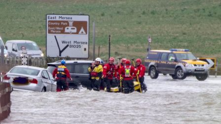 Emergency services were called to pull cars from the Strood Picture: BEN SUTTON, COLCHESTER COMMUNIT