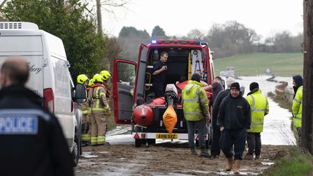 Emergency services at the Strood Picture: BEN SUTTON, COLCHESTER COMMUNITY GROUP