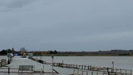 The coastguard are also at the scene of submerged cars on The Strood, connecting Mersea Island to Co