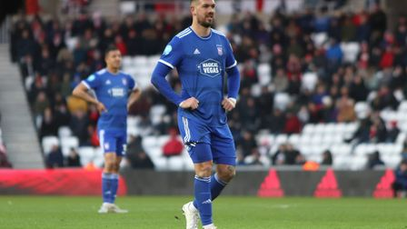 Luke Chambers pictured during Town's 1-0 defeat Sunderland Photo: ROSS HALLS