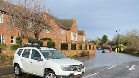 Quayside in Woodbridge was closed by Eastern Community Assistance before officers from Suffolk polic
