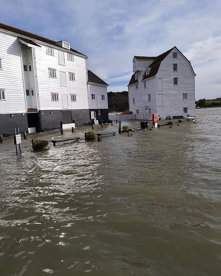 The Tide Mill in Woodbridge was submerged by the water Picture: DAVID SOAMES