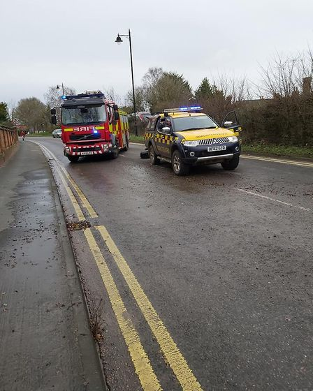 Emergency services are helping with the situation in Woodbridge Picture: DAVID SOAMES