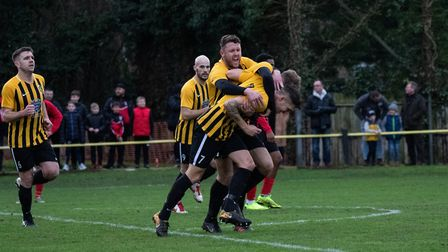 Stowmarket Town FC has been given a new 50 year lease at Greens Meadow. Picture: HOGAN COBBOLD