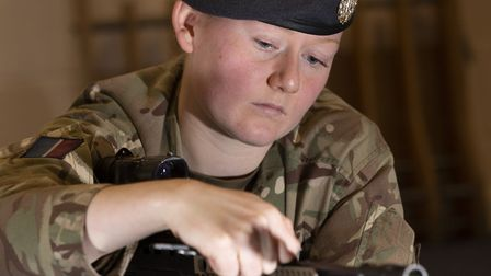 LAC Sandover is the first female member of the RAF Regiment since the government relaxed the ban on