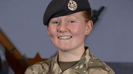 Leading Aircraftsman Georgia Sandover, the RAF Regiment's first female gunner. Picture: CPL DAVE BLA