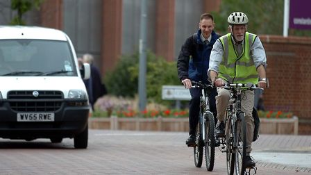 In towns cycling to work is a great way to cut greenhouse gases and keep fit Picture: PHIL MORLEY