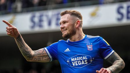 James Norwood celebrates scoring in the 4-1 home win against Accrington Stanley last weekend. Photo:
