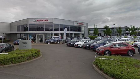 The Honda dealership in Milton Keynes, part of a wider car dealership hub, which CIFCO has bought. P