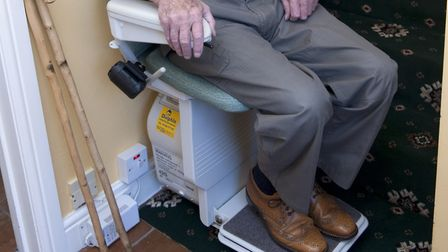 Installation of stairlifts is one of the things the grant can be used for. Picture: ASHLEY PICKERING