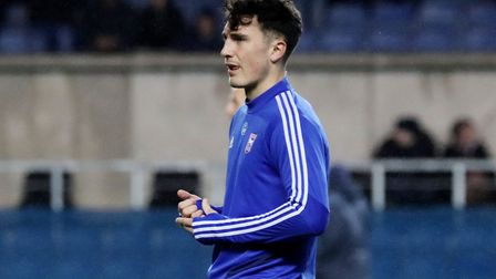 New signing Josh Earl pictured before Town's 0-0 draw with Oxford United at The Kassam Stadium Photo