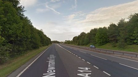 There were delays on the A14 at Newmarket Picture: GOOGLE MAPS