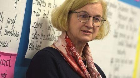 Amanda Spielman, Ofsted Chief Inspector chatting to pupils at Murrayfield Primary School Picture: S