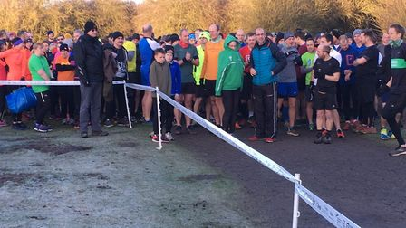 It's a cold start as runners and walkers congregate for the start of the 13th Irchester Country park