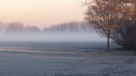 The misty setting for the Hackney Marshes parkrun, when columnist Carl Marston visited in January, 2