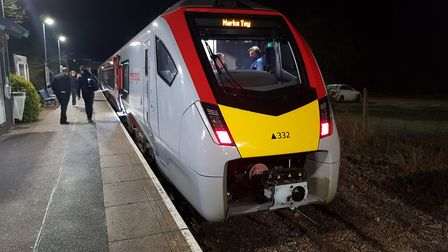 New Greater Anglia train at Sudbury station Picture: GREATER ANGLIA