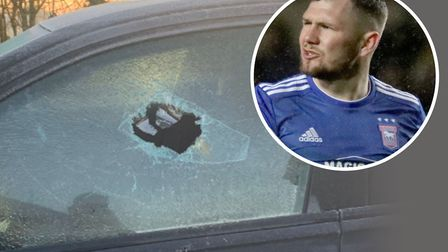 James Norwood had to smash his own car window to avoid being late for training this mornong. Picture