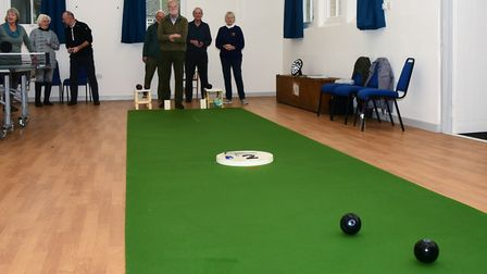 The Westleton bowls team meet at the village hall every week Picture: CHARLOTTE BOND